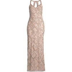 Aidan Mattox Women's Beaded Halter-Neck Gown - Blush - Size 14 found on MODAPINS from Saks Fifth Avenue for USD $595.00