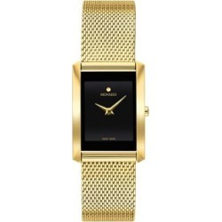 La Nouvelle Rectangular Goldtone Stainless Steel Mesh Bracelet Watch found on Bargain Bro Philippines from The Bay for $1595.00