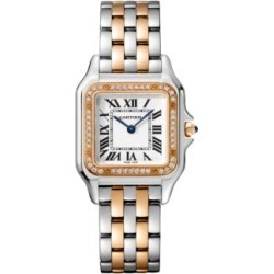 Panthère de Cartier Medium Stainless Steel, 18K Rose Gold & Diamond Bracelet Watch found on Bargain Bro India from Saks Fifth Avenue Canada for $13152.51