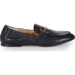 Tod's Women's Double T Leather Loafers - Black - Size 37 (7) found on Bargain Bro India from Saks Fifth Avenue for $695.00