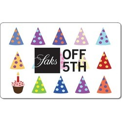 Saks Fifth Avenue OFF 5TH Happy Birthday Gift Card found on Bargain Bro from Saks Fifth Avenue OFF 5TH for USD $228.00