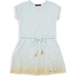 Imoga Little Girl's Speckled A-Line Drawstring Dress - Mist - Size 2