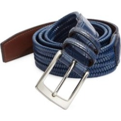 COLLECTION Exotic Tab Stretch Leather Belt found on Bargain Bro Philippines from Saks Fifth Avenue AU for $58.93