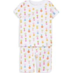 Baby Girl & LIttle Girl's 2-Piece T-Shirt & Shorts Pajama Set