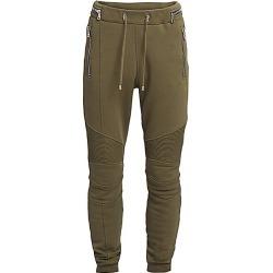 Balmain Men's Monogram Ribbed Sweatpants - Khaki - Size XS found on MODAPINS from Saks Fifth Avenue for USD $447.75