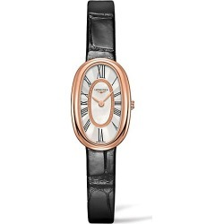 Longines Men's Symphonette Leather Strap Watch found on MODAPINS from Saks Fifth Avenue for USD $3475.00