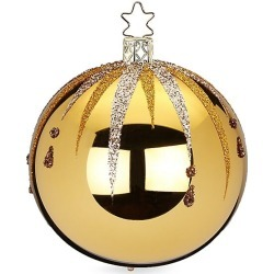 Inge's Christmas Decor Fancy Glass Ball Ornament - Gold found on Bargain Bro India from Saks Fifth Avenue for $16.00