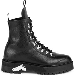 Off-White Women's Leather Hiking Boots - Black - Size 38 (8) found on MODAPINS from Saks Fifth Avenue for USD $600.00