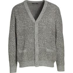 STAMP'D Men's Cracked Cardigan - Grey - Size XL