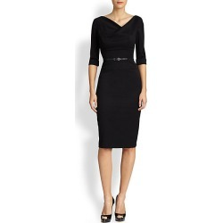 Black Halo Women's Jackie O Three-Quarter Sleeve Dress - Black - Size 4 found on MODAPINS from Saks Fifth Avenue for USD $375.00