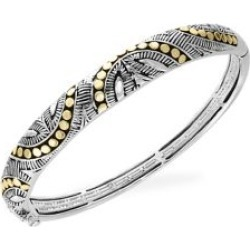 925 Sterling Silver & 18K Yellow Gold Bangle Bracelet found on Bargain Bro India from The Bay for $918.50