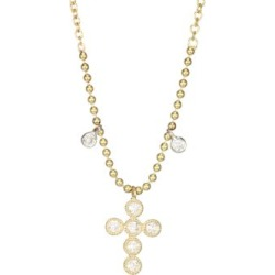 14K Two-Tone Gold Diamond Cross Necklace found on Bargain Bro India from Saks Fifth Avenue AU for $481.92