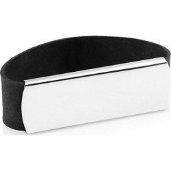 Grand Band Men's Deluxe Large Sterling Silver Plaque Money Band - Silver