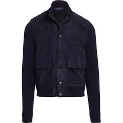 Ralph Lauren Purple Label Men's Suede & Cashmere Jacket - Navy - Size XL