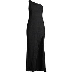 FAME AND PARTNERS Women's The Selma One-Shouldered Lace Gown - Black - Size 14