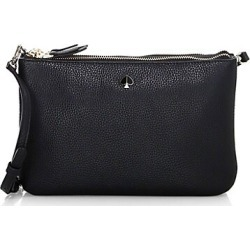 Kate Spade New York Women's Medium Polly Leather Crossbody Bag - Black found on Bargain Bro Philippines from Saks Fifth Avenue for $111.72