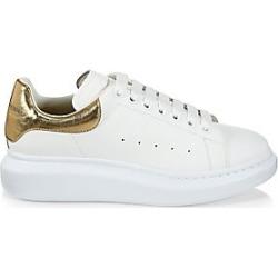 Alexander McQueen Men's Metallic Trim Sneakers - White Gold - Size 45 (12)