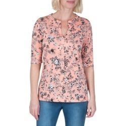 Petite Floral-Print Elbow-Length Sleeve Tee found on Bargain Bro Philippines from The Bay for $27.50