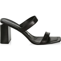 Alexander Wang Women's Hayden Leather Mules - Black - Size 39 (9) found on MODAPINS from Saks Fifth Avenue for USD $475.00
