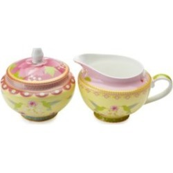 Antoinette Two-Piece Bone China Sugar and Creamer Set