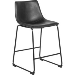 James Faux Leather Counter Stool