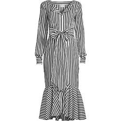 Milly Women's Erica Striped Ruffle-Hem Midi Dress - White Black - Size 12 found on Bargain Bro India from LinkShare USA for $595.00