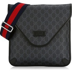 Gucci Men's Medium GG Supreme Messenger Bag - Black found on MODAPINS from Saks Fifth Avenue for USD $890.00
