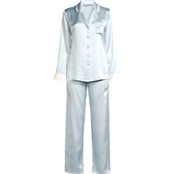 Contrast Piping Two-Piece Pajamas found on MODAPINS from Saks Fifth Avenue for USD $288.00