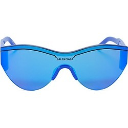 Balenciaga Women's 99MM Tonal Round Sunglasses - Blue found on MODAPINS from Saks Fifth Avenue for USD $450.00