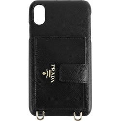 Prada Women's iPhone XS Max Leather Phone Case - Black found on Bargain Bro India from Saks Fifth Avenue for $480.00
