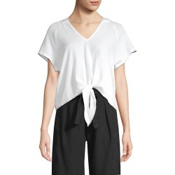 Tie-Front Hoodie found on MODAPINS from Saks Fifth Avenue for USD $38.01
