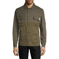 Graphic Military Shirt