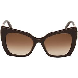 Atelier Swarovski Women's 53MM Butterfly Swarovski Crystal Sunglasses - Brown found on MODAPINS from Saks Fifth Avenue for USD $560.00