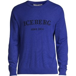 Iceberg Men's Logo Crew Sweater - Blue Violet - Size XL found on MODAPINS from Saks Fifth Avenue for USD $230.00