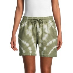 Nicole Miller Women's Tie-Dyed Cotton Shorts - Blue - Size XL found on MODAPINS from Saks Fifth Avenue OFF 5TH for USD $39.99