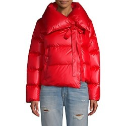 Bacon Women's Puffa Cropped Jacket - Red - Size Medium found on MODAPINS from Saks Fifth Avenue for USD $205.10