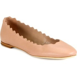 Chloé Women's Lauren Leather Ballet Flats - Pink Tea - Size 40 (10) found on Bargain Bro Philippines from Saks Fifth Avenue for $495.00