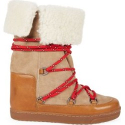 Nowly Shearling-Lined Suede & Leather Snow Boots