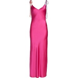 Dannijo Women's Tie Strap Long Slip Dress - Hot Pink - Size Large found on MODAPINS from Saks Fifth Avenue for USD $113.40