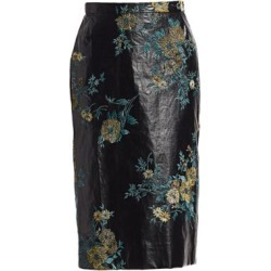 Embroidered Faux-Leather Pencil Skirt found on Bargain Bro India from Saks Fifth Avenue AU for $1014.15