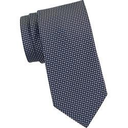 Brioni Men's Mini Dot Silk Tie - Midnight Blue