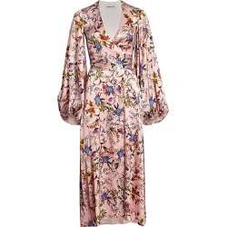 Adriana Iglesias Women's Stretch-Silk Floral Balloon-Sleeve Gown - Flowered Pink - Size 36 (4) found on MODAPINS from Saks Fifth Avenue for USD $494.99