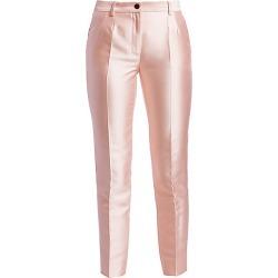 Dolce & Gabbana Women's Silk Mikado Cropped Pants - Pink - Size 46 (10)