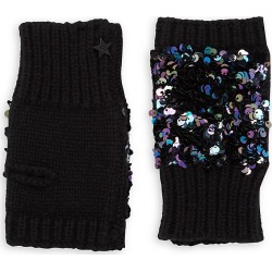 Jocelyn Kid's Knit & Sequin Fingerless Gloves - Black found on MODAPINS from Saks Fifth Avenue for USD $45.00
