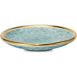 Aerin Calinda 18K Goldplated Ceramic Vide Poche - Blue Gratto found on Bargain Bro India from Saks Fifth Avenue for $125.00