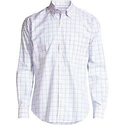 Peter Millar Men's Dana Checker Shirt - Vessel - Size Small found on Bargain Bro Philippines from Saks Fifth Avenue for $129.00