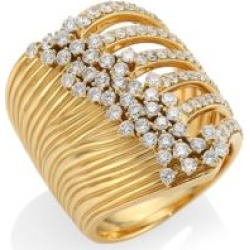 Plissé 18K Yellow Gold & Diamond Ring found on Bargain Bro India from Saks Fifth Avenue Canada for $7364.55