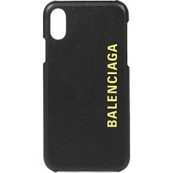 Balenciaga Men's Cash Leather iPhone 10 Case - Black Flourescent Yellow found on Bargain Bro Philippines from Saks Fifth Avenue for $157.50