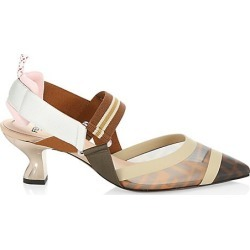 Fendi Women's Colibri Mesh Slingback Pumps - Beige - Size 40 (10) found on MODAPINS from Saks Fifth Avenue for USD $890.00