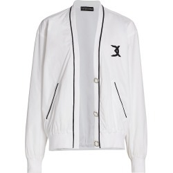 David Koma Women's Jewelled-Button Windbreaker - White - Size 4 found on MODAPINS from Saks Fifth Avenue for USD $1550.00